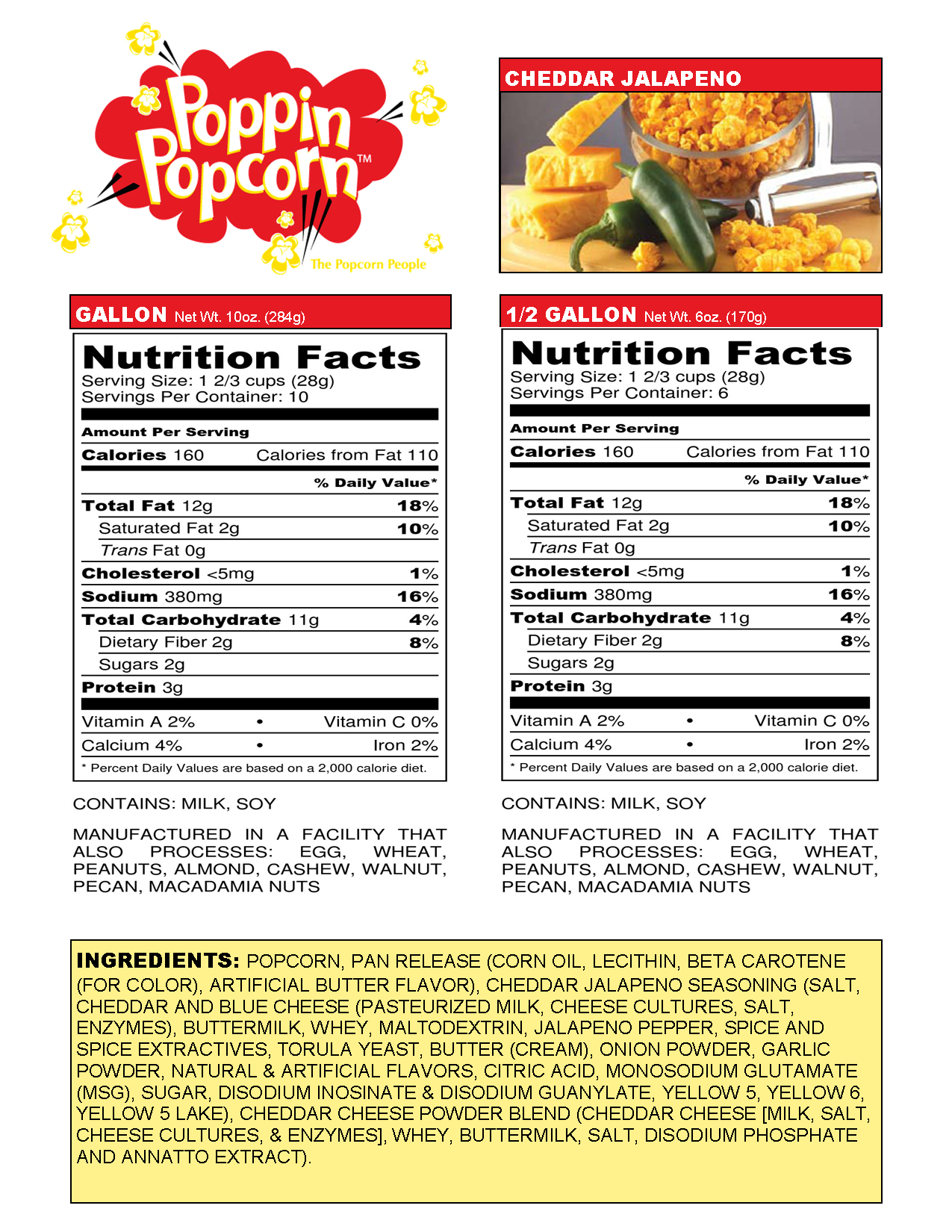 Cheddar Jalapeno Web Nutritional