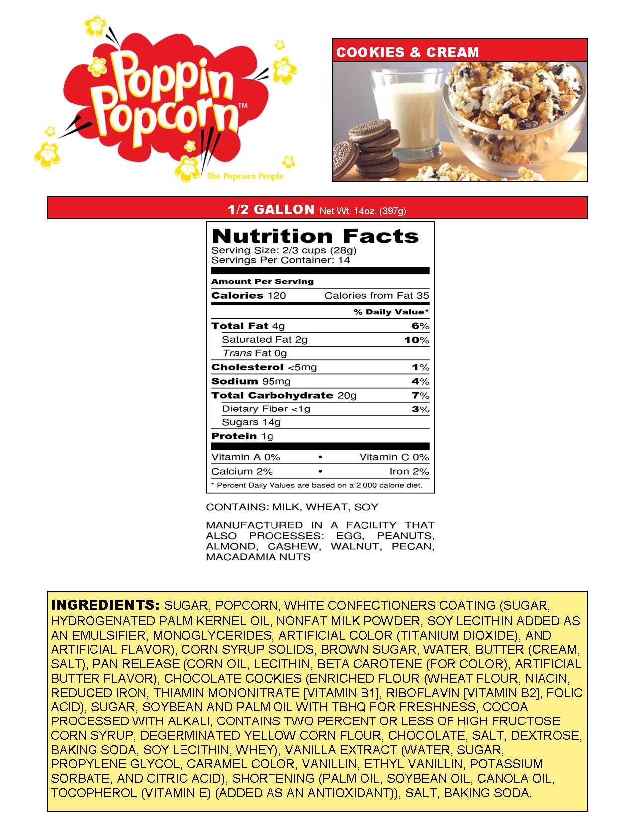 Cookies & Cream Web Nutritional