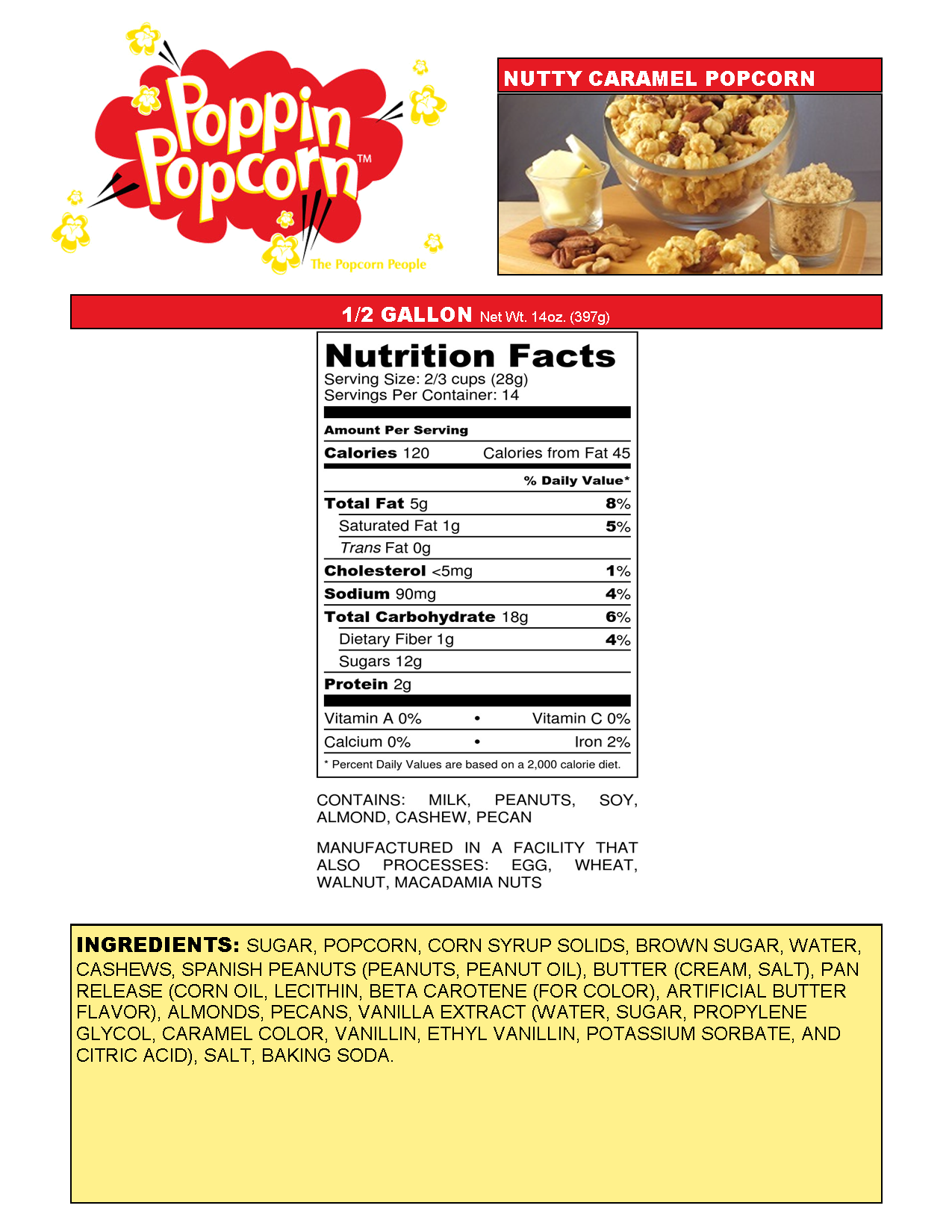 Nutty Caramel Web Nutritional